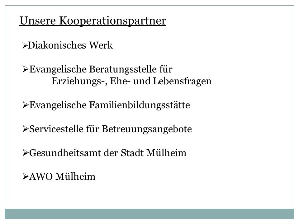 Unsere Kooperationspartner