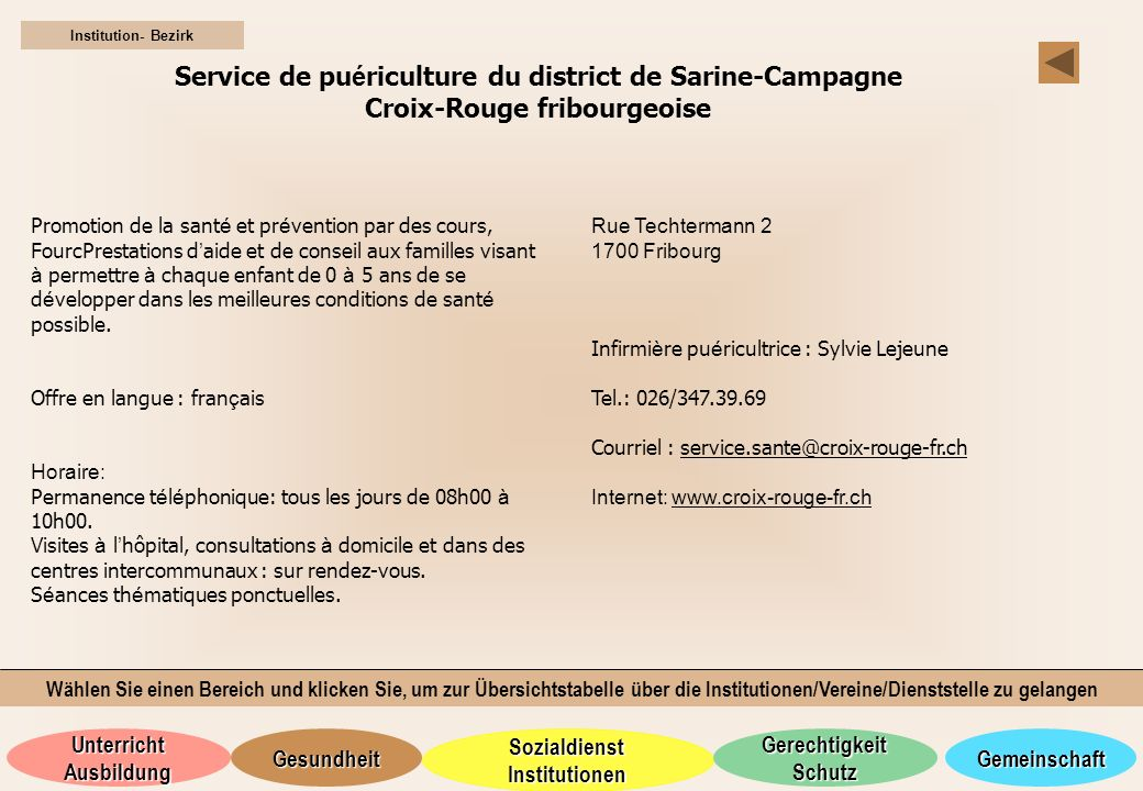 Service de puériculture du district de Sarine-Campagne