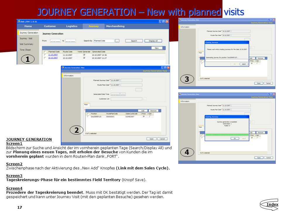 JOURNEY GENERATION – New with planned visits