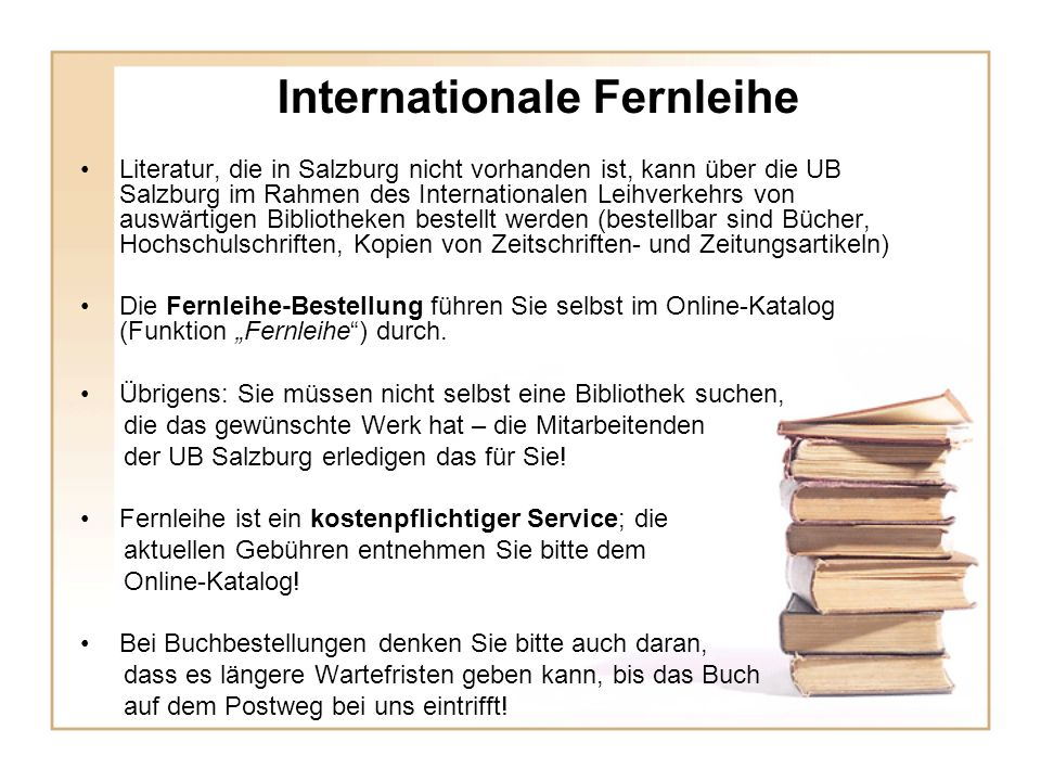 Internationale Fernleihe