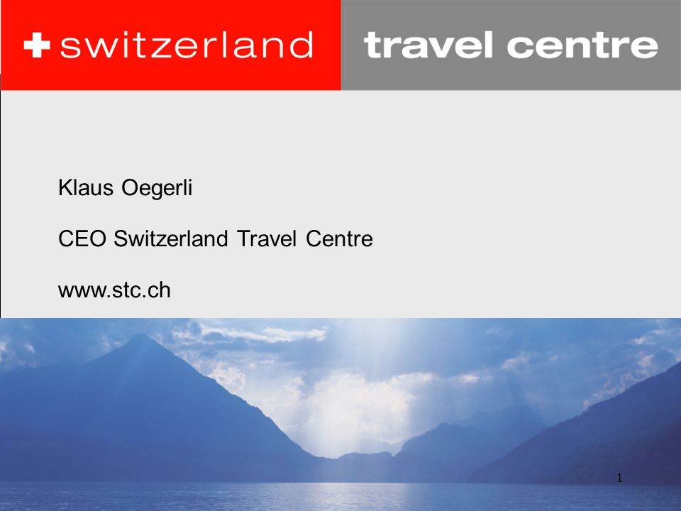 Klaus Oegerli CEO Switzerland Travel Centre