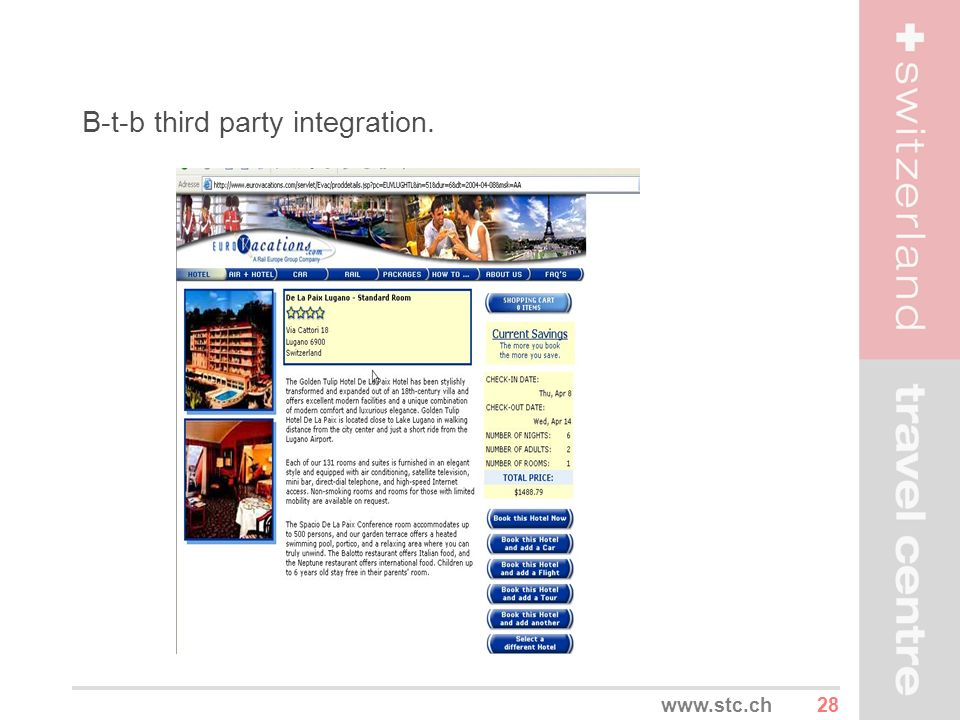 B-t-b third party integration.