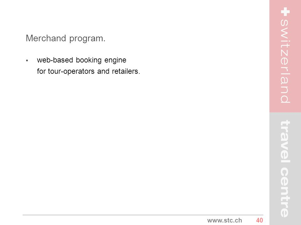 Merchand program. web-based booking engine for tour-operators and retailers.