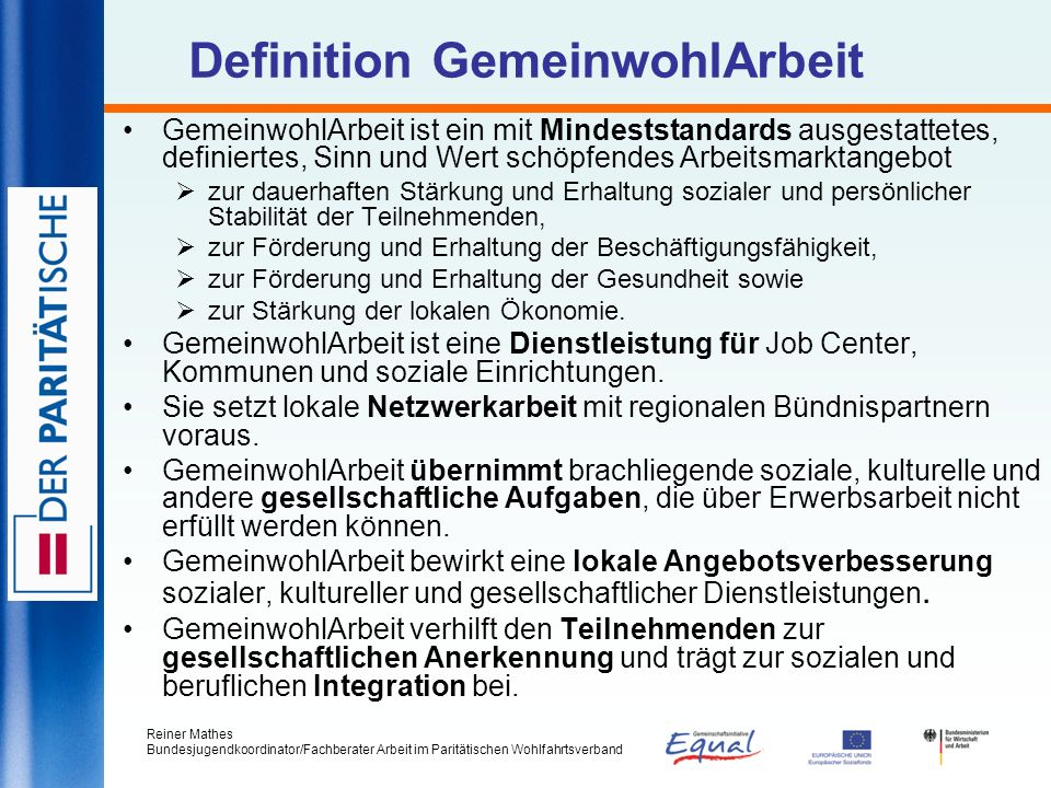Definition GemeinwohlArbeit