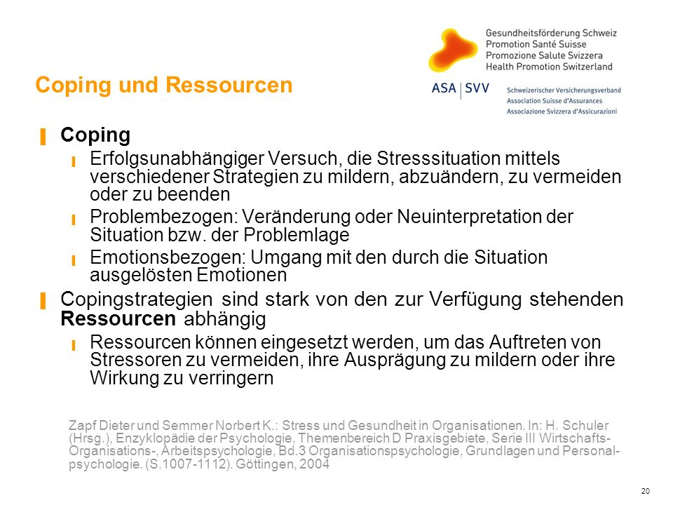 Coping und Ressourcen Coping