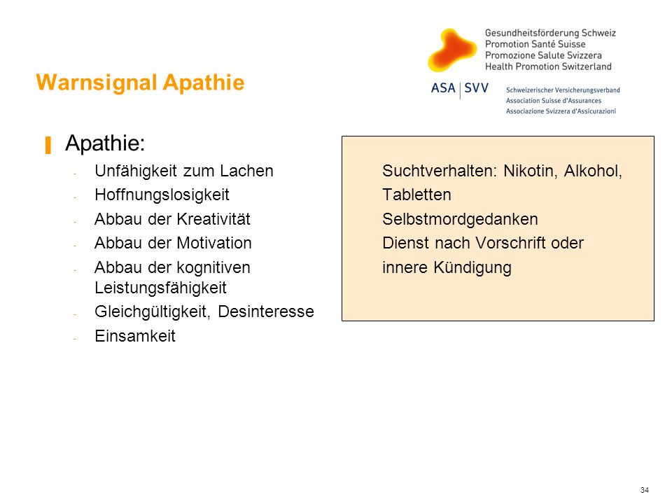 Warnsignal Apathie Apathie: