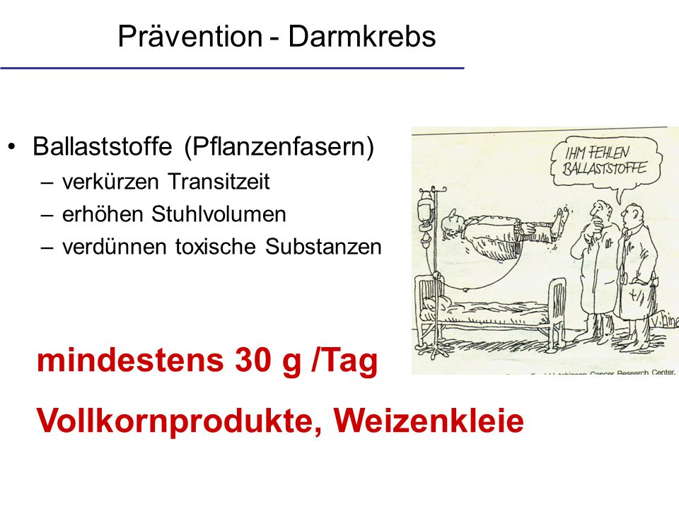 Prävention - Darmkrebs