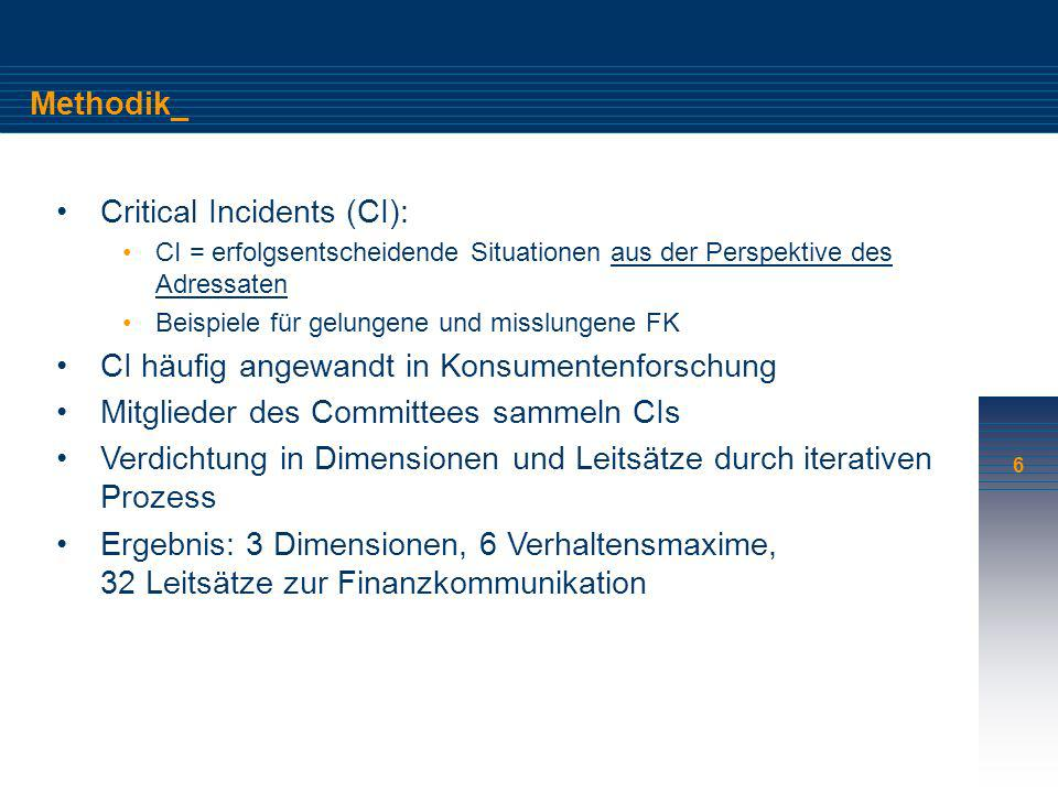 Critical Incidents (CI):