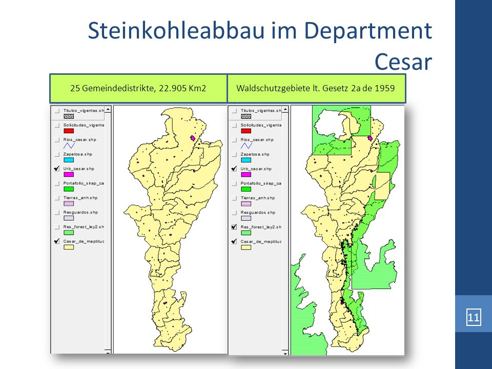 Steinkohleabbau im Department Cesar