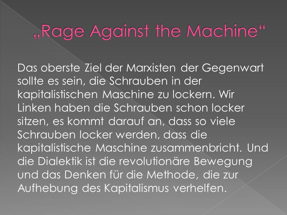 """Rage Against the Machine"