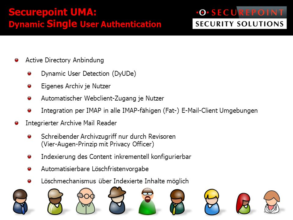 Securepoint UMA: Dynamic Single User Authentication