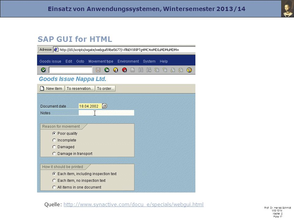 SAP GUI for HTML Quelle: