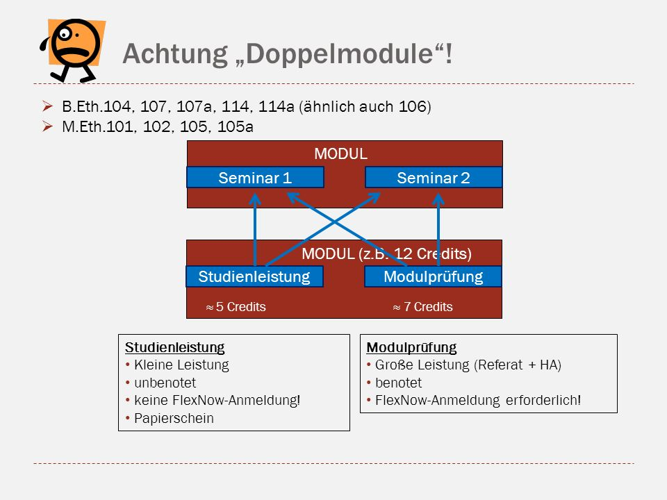 "Achtung ""Doppelmodule !"