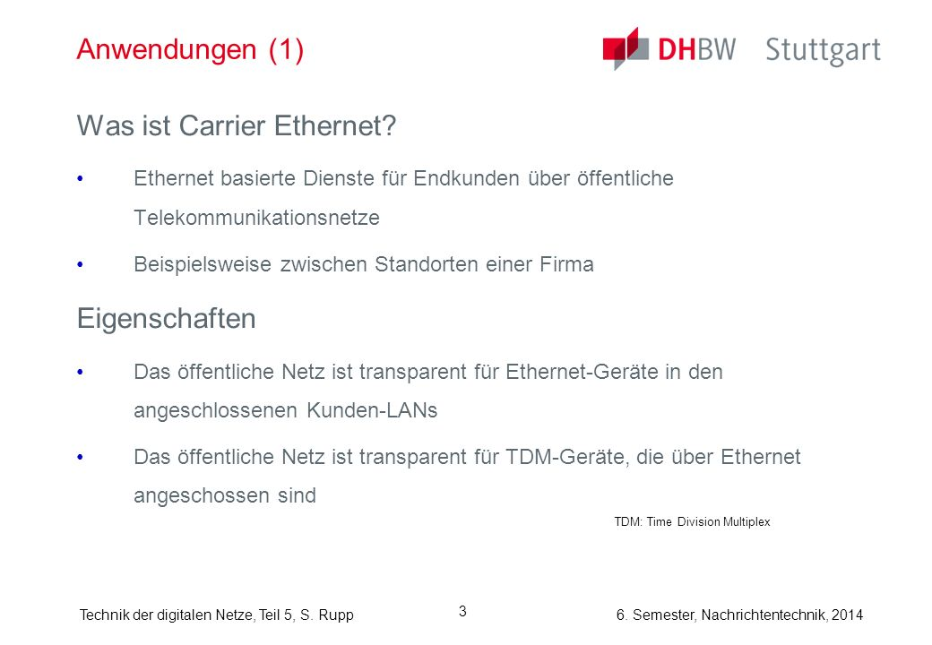 Was ist Carrier Ethernet