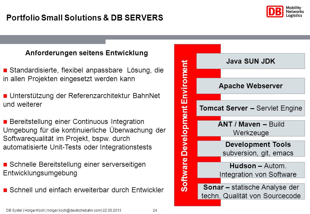 Portfolio Small Solutions & DB SERVERS