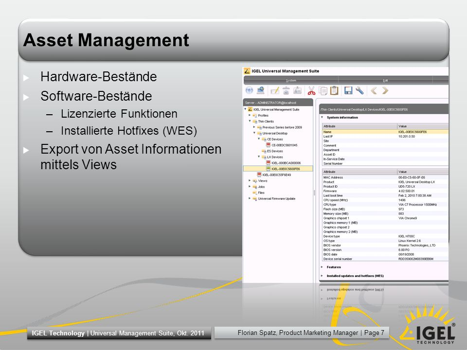 Asset Management Hardware-Bestände Software-Bestände