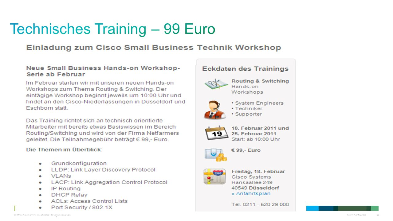Technisches Training – 99 Euro