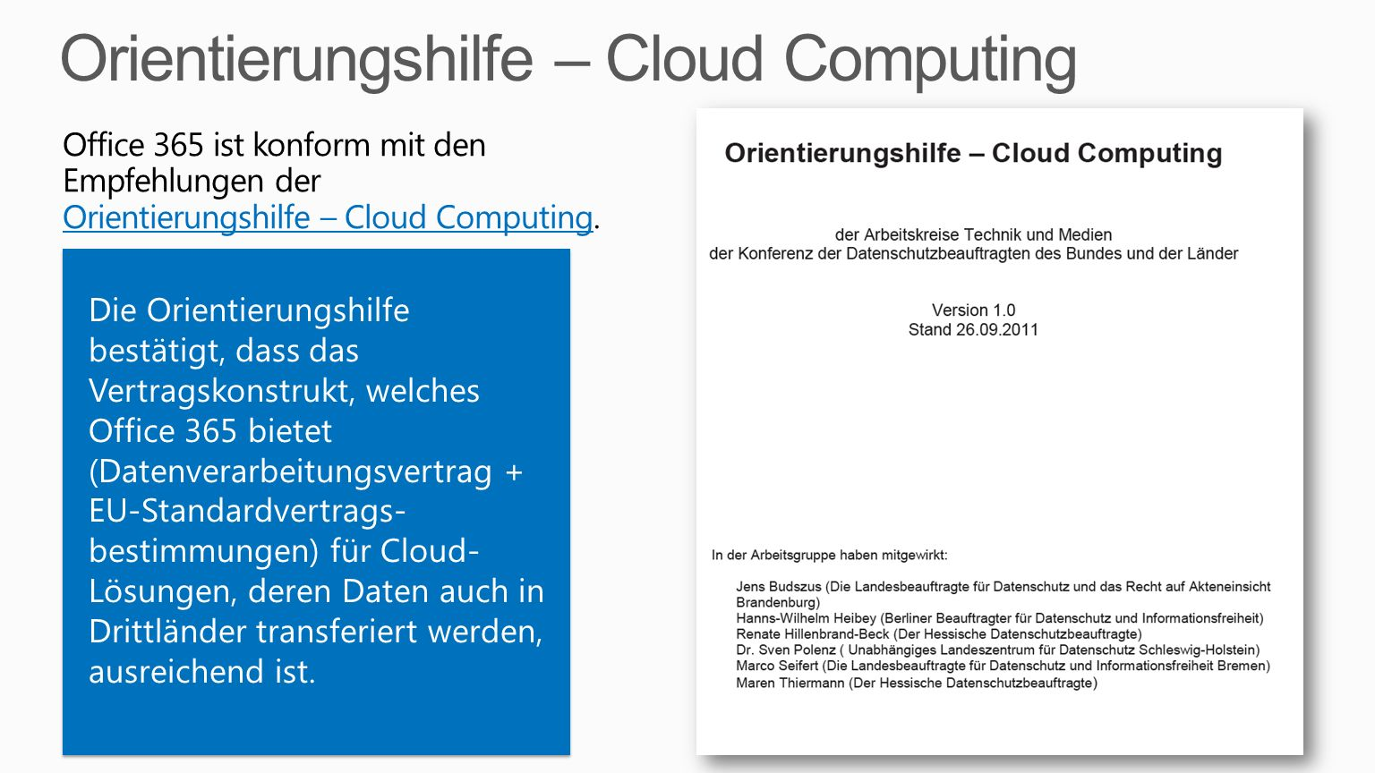 Orientierungshilfe – Cloud Computing