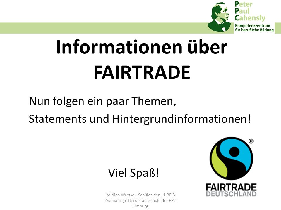 Informationen über FAIRTRADE