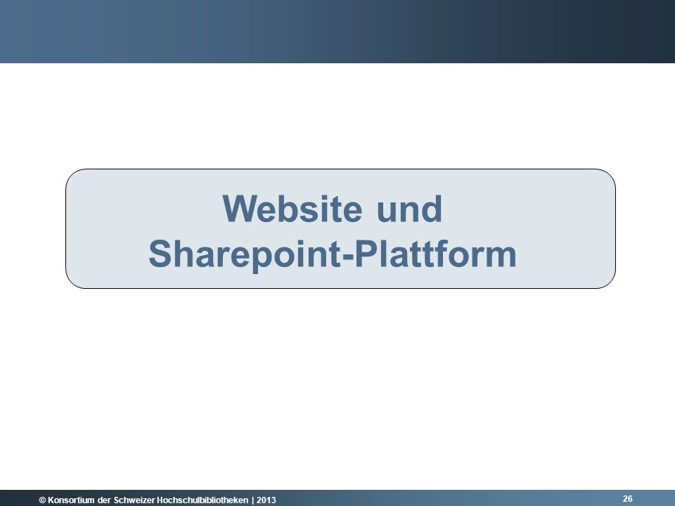 Website und Sharepoint-Plattform