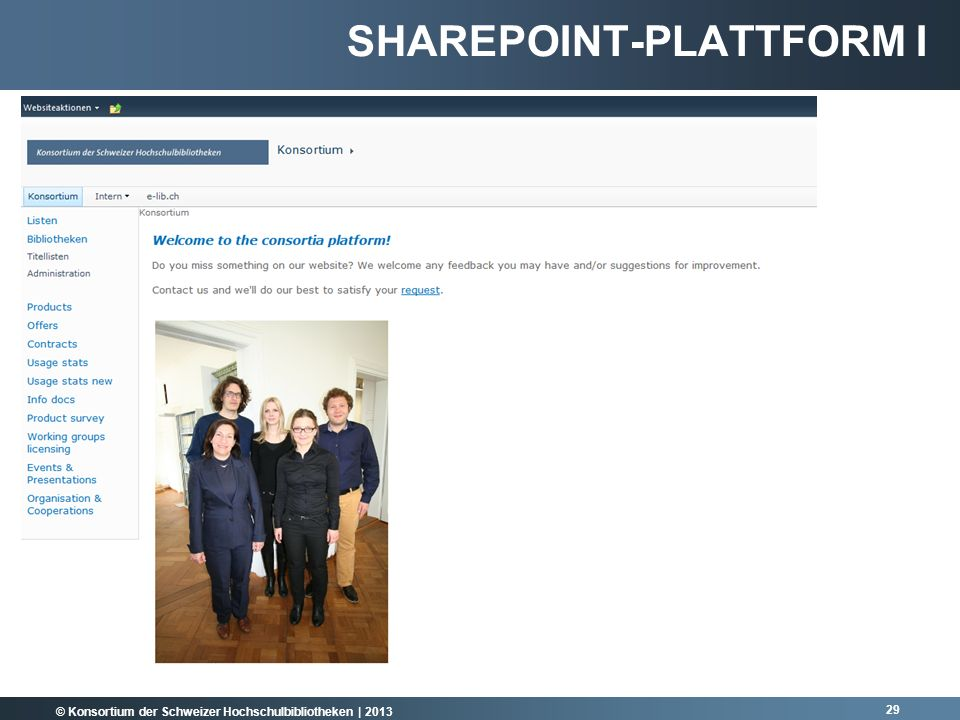 Sharepoint-Plattform I