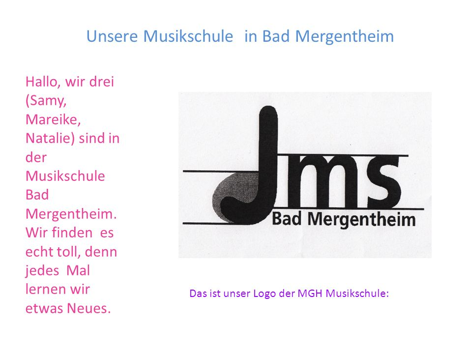 Unsere Musikschule in Bad Mergentheim