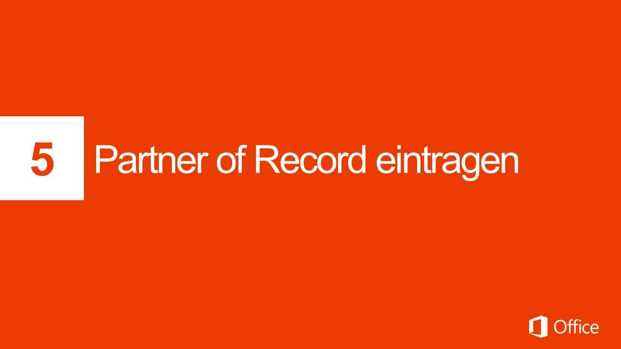 Partner of Record eintragen