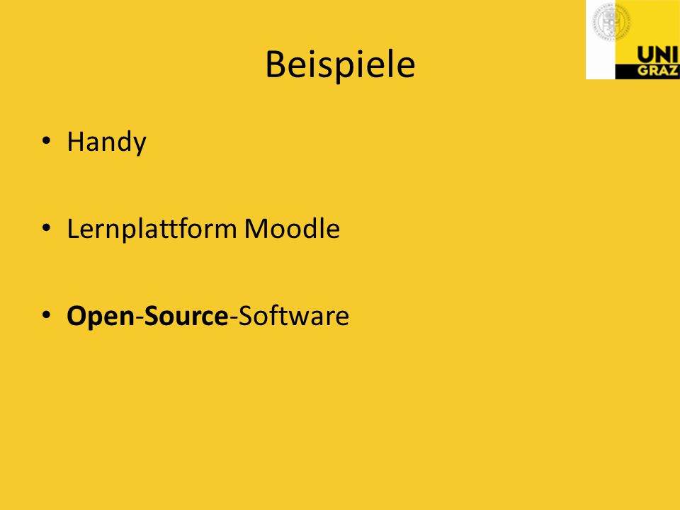 Beispiele Handy Lernplattform Moodle Open-Source-Software