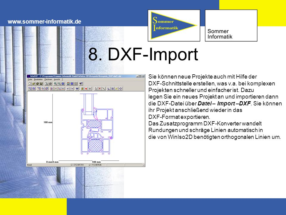 8. DXF-Import