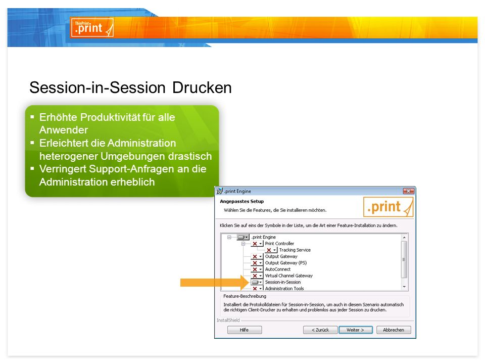 Session-in-Session Drucken
