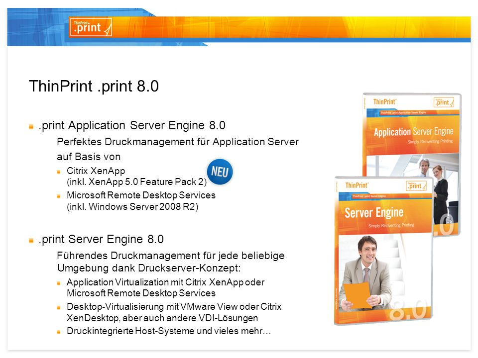 ThinPrint .print 8.0 .print Application Server Engine 8.0