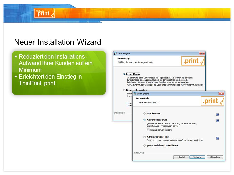 Neuer Installation Wizard