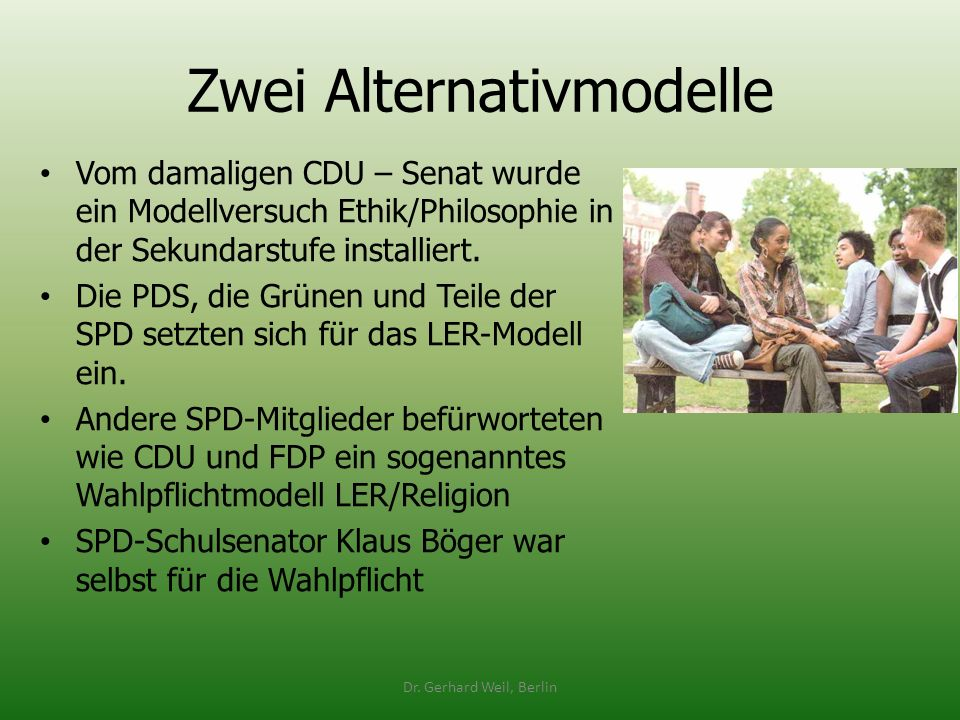 Zwei Alternativmodelle