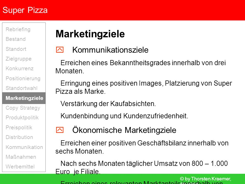 Marketingziele  Kommunikationsziele  Ökonomische Marketingziele