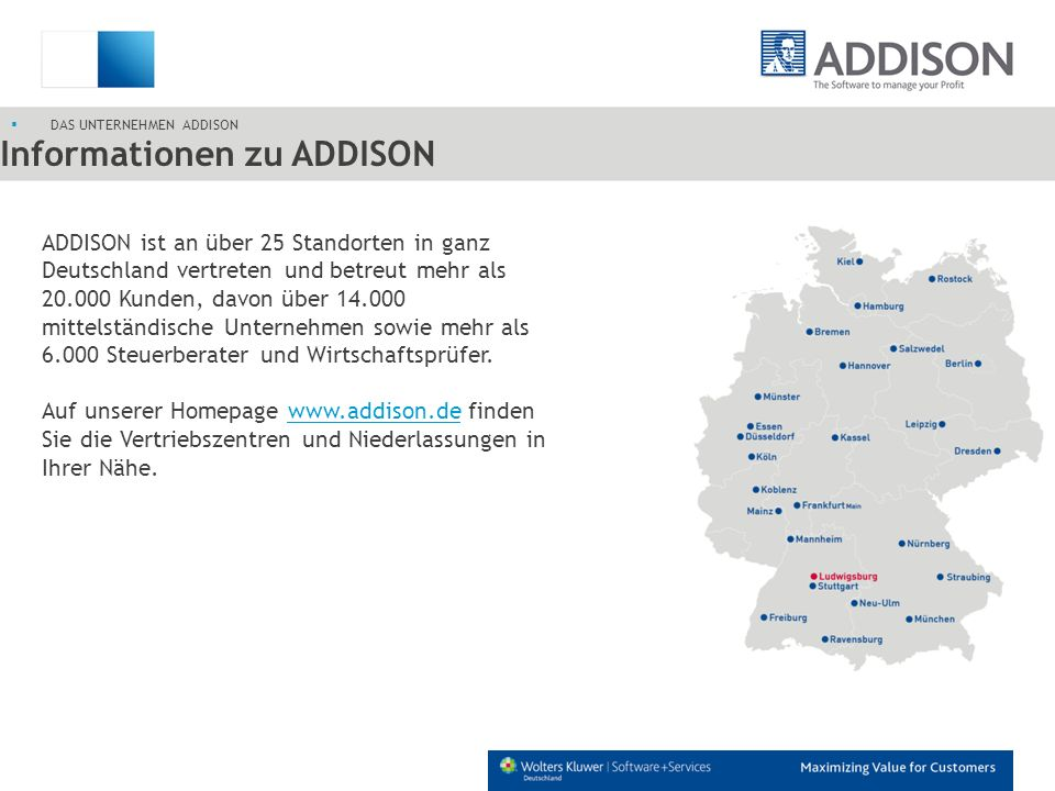 Informationen zu ADDISON