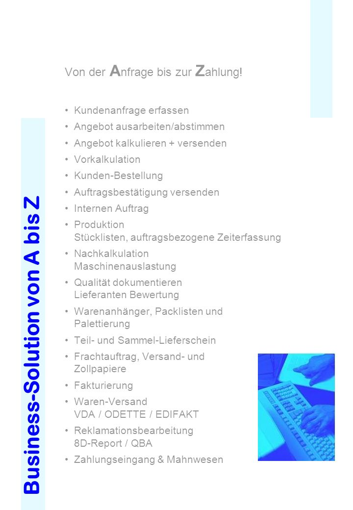 Business-Solution von A bis Z