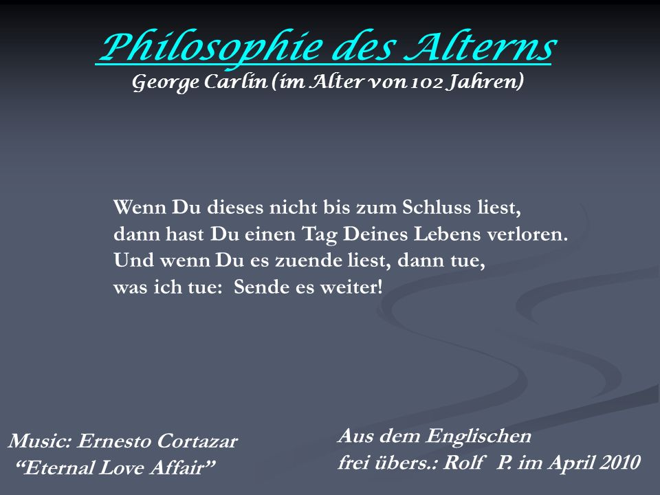 Philosophie des Alterns