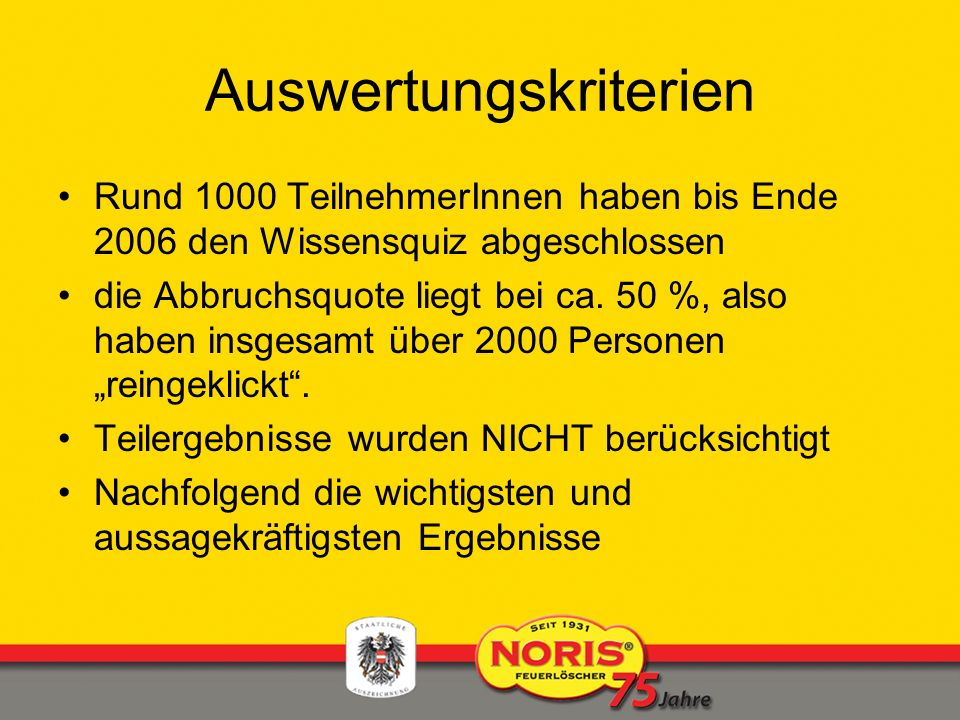 Auswertungskriterien