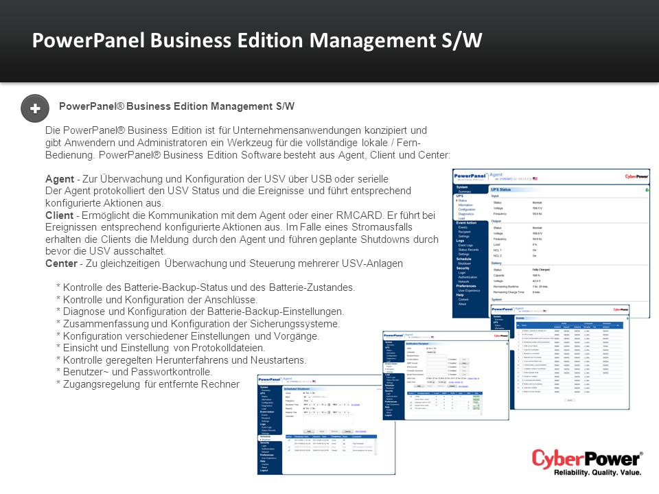 PowerPanel Business Edition Management S/W