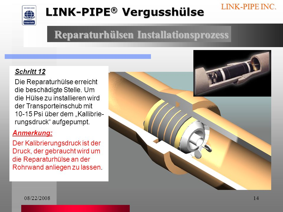 LINK-PIPE® Vergusshülse
