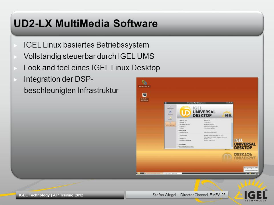 UD2-LX MultiMedia Software