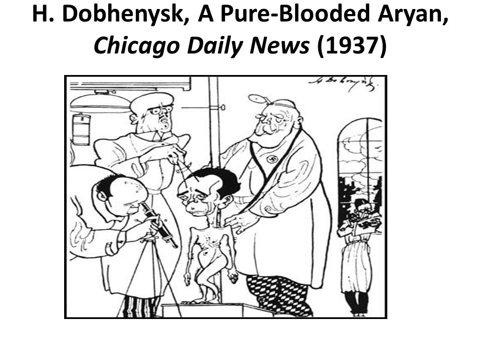 H. Dobhenysk, A Pure-Blooded Aryan, Chicago Daily News (1937)