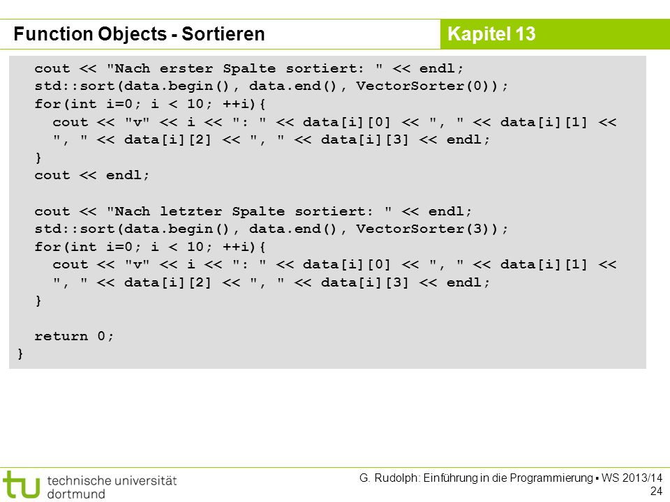 Function Objects - Sortieren