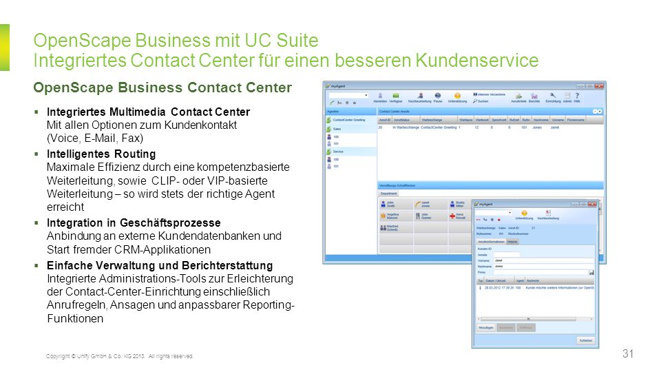 OpenScape Business Contact Center