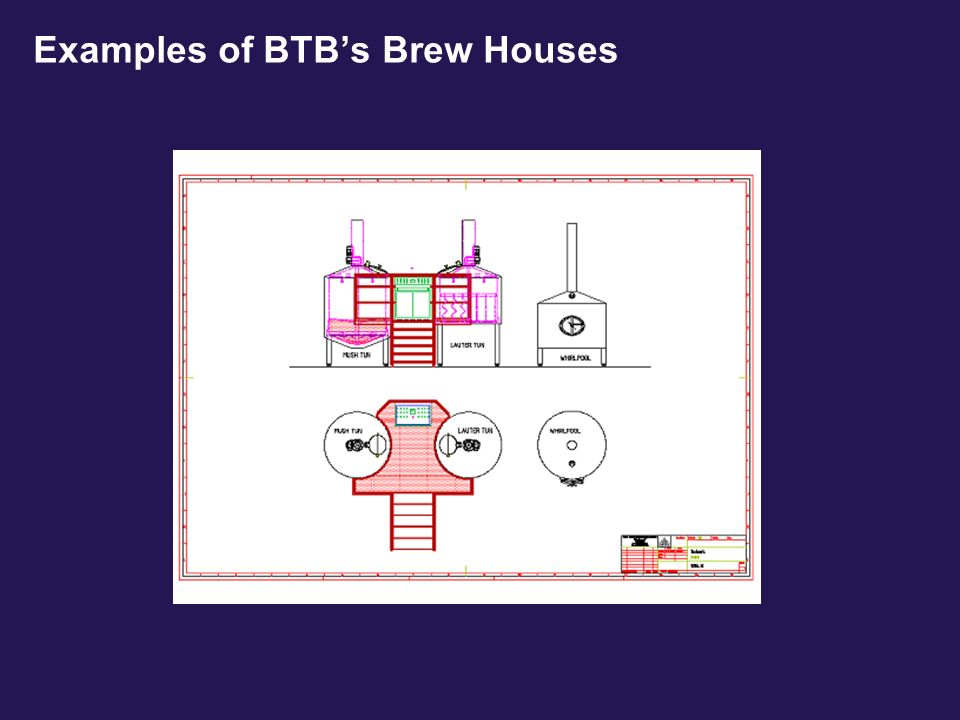 Examples of BTB's Brew Houses