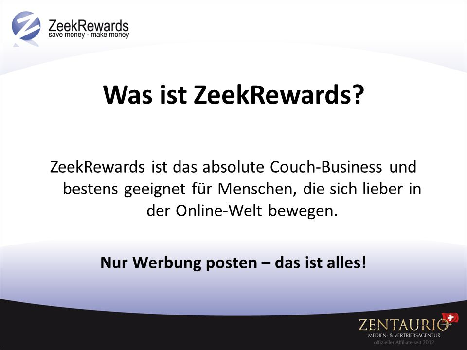 Was ist ZeekRewards