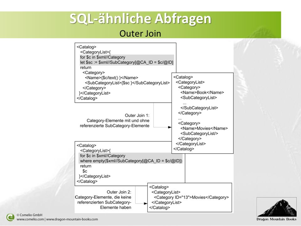SQL-ähnliche Abfragen Outer Join