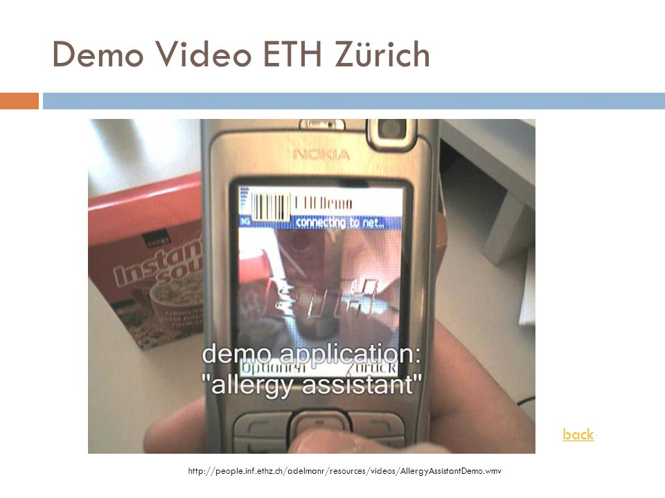 Demo Video ETH Zürich back