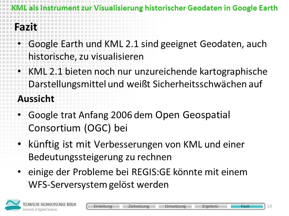 KML als Instrument zur Visualisierung historischer Geodaten in Google Earth