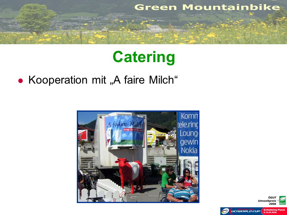 "Catering Kooperation mit ""A faire Milch"